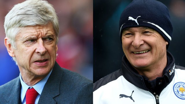 Arsenal boss Arsene Wenger and Leicester City manager Claudio Ranieri