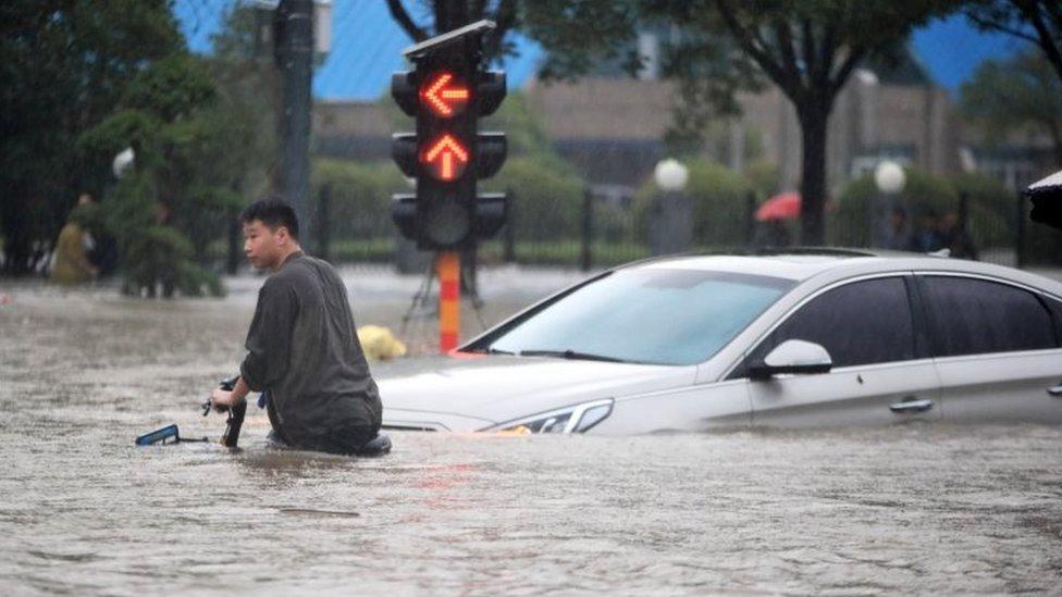 河南鄭州的洪災