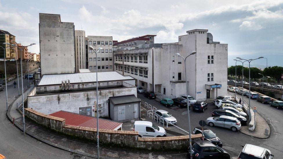El hospital Ciaccio en Catanzaro, Puglia
