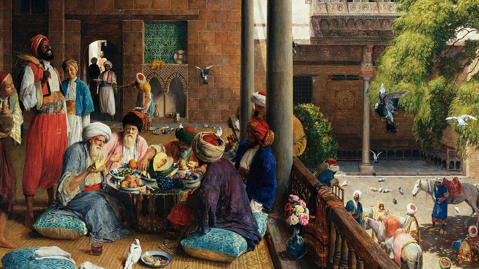 مأدبة في منزل في القاهرة