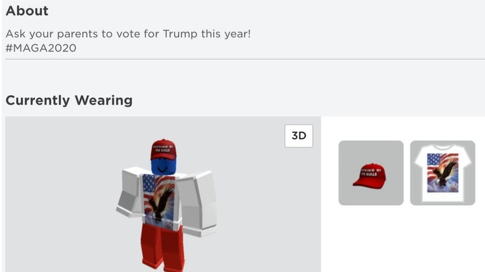 Roblox Old Account Dump 2019 Roblox Accounts Hacked To Support Donald Trump Bbc News
