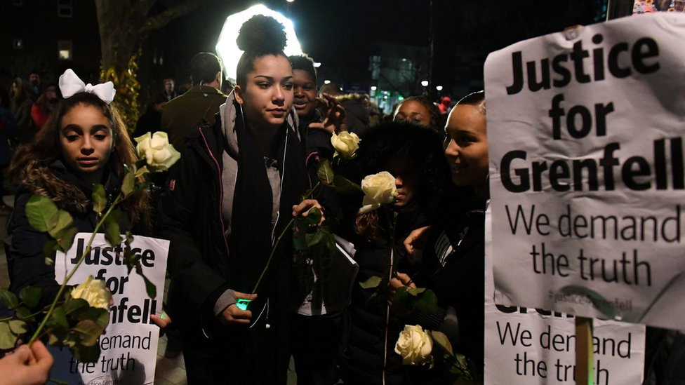 Silent march for Grenfell