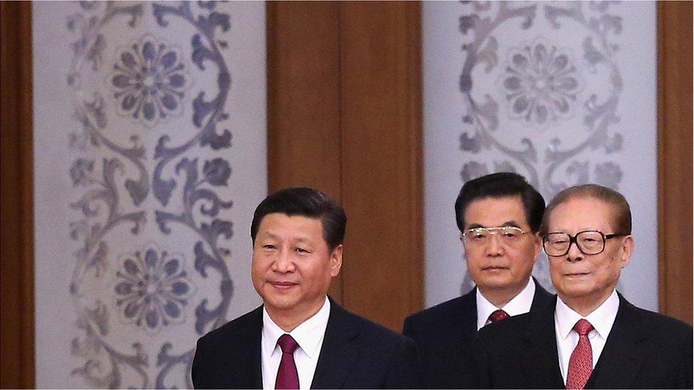 Xi Jinping, Hu Jintao and Jiang Zemin