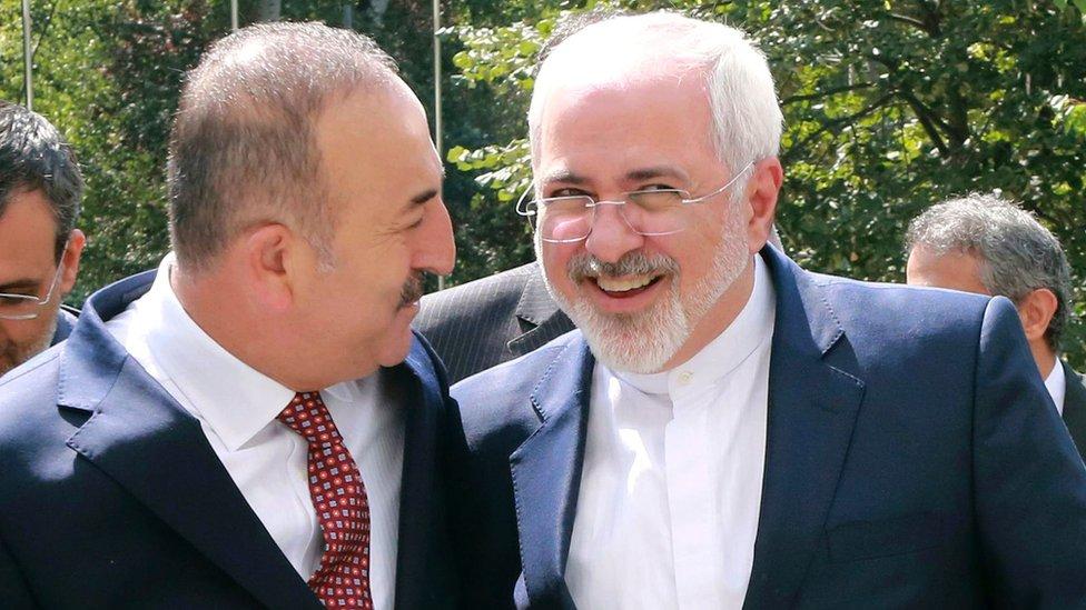 Dışişleri Bakanı Mevlüt Çavuşoğlu ve İran Dışişleri Bakanı Cevad Zarif