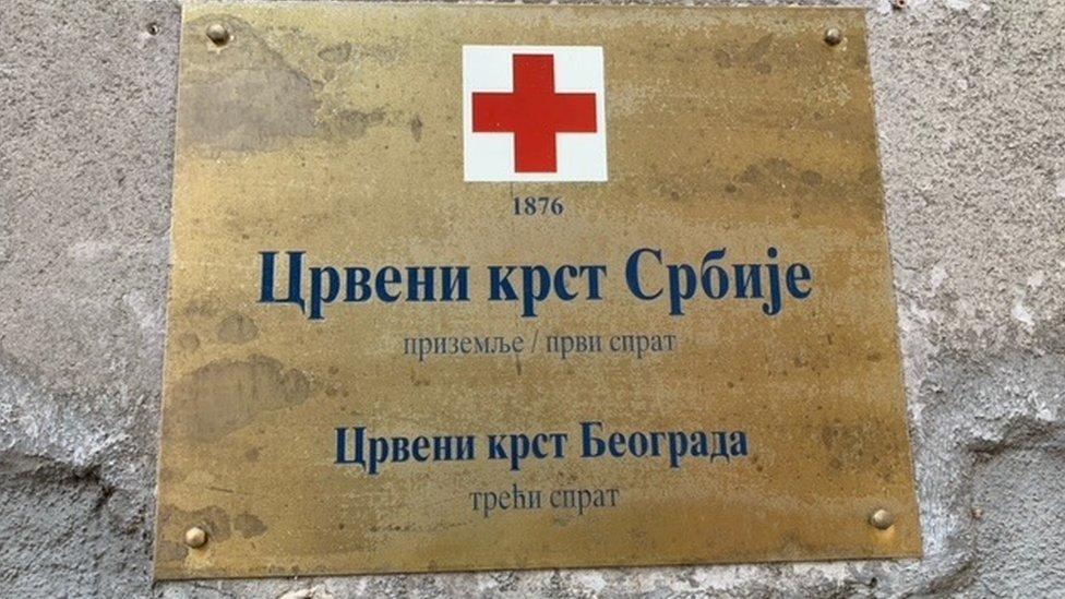 crveni krst tabla