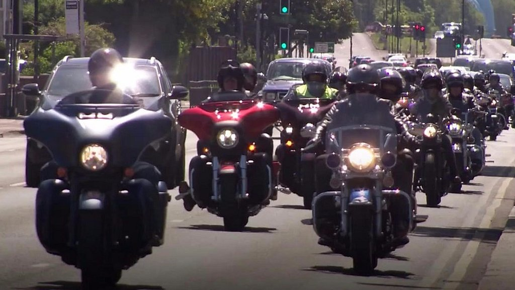 Manchester attack: Bikers ride to remember Saffie Roussos
