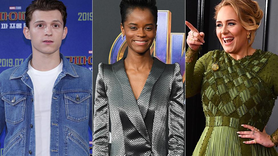 BBC News - Oscars: Tom Holland, Letitia Wright and Adele join Academy