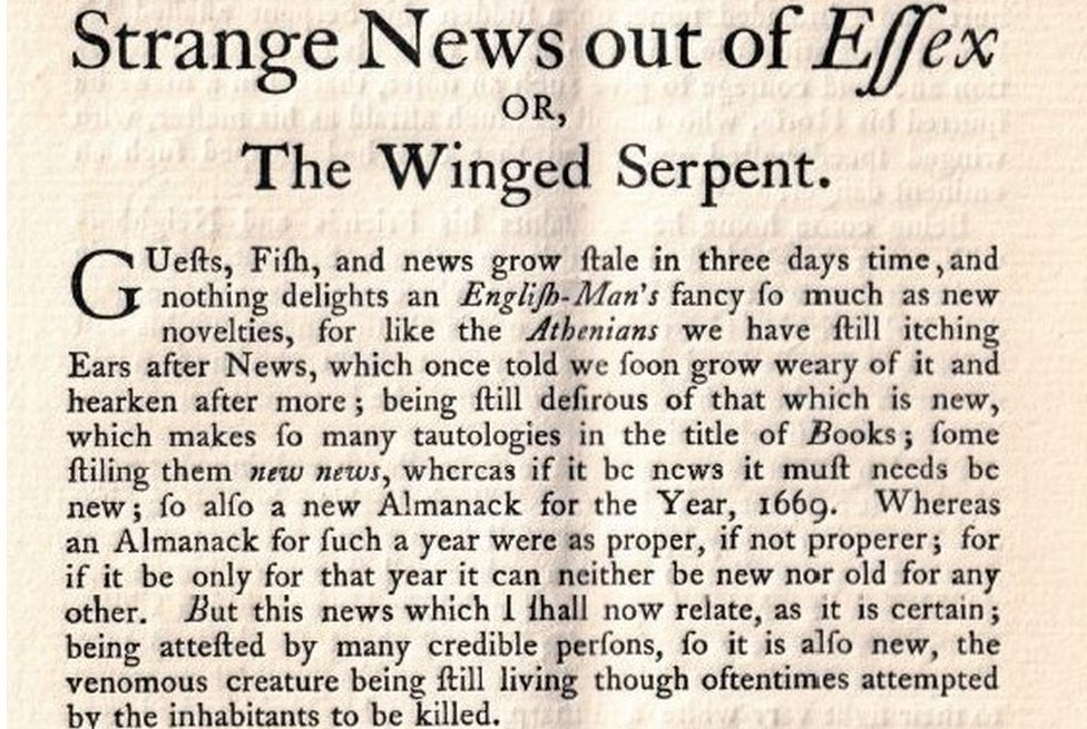 Essex Serpent pamphlet