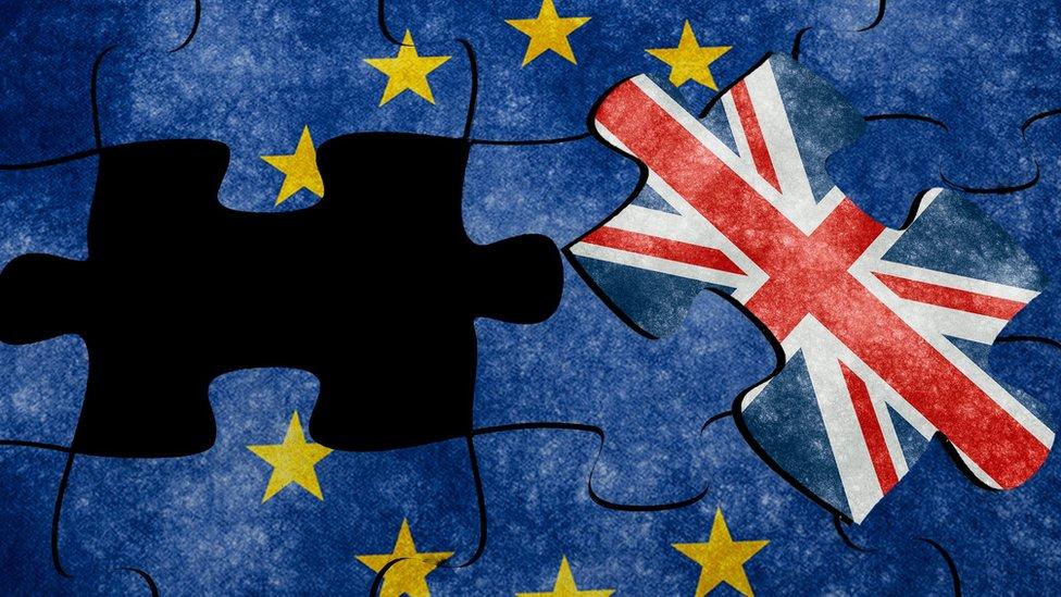 歐盟和英國旗拼圖