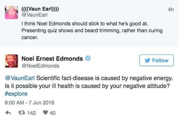 Noel Edmonds tweet