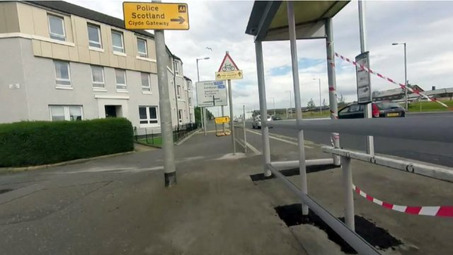 Bus stop in a cycle lane