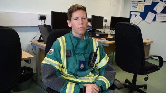 Rebecca Owen from Wales Ambulance's Hazardous Area Response team