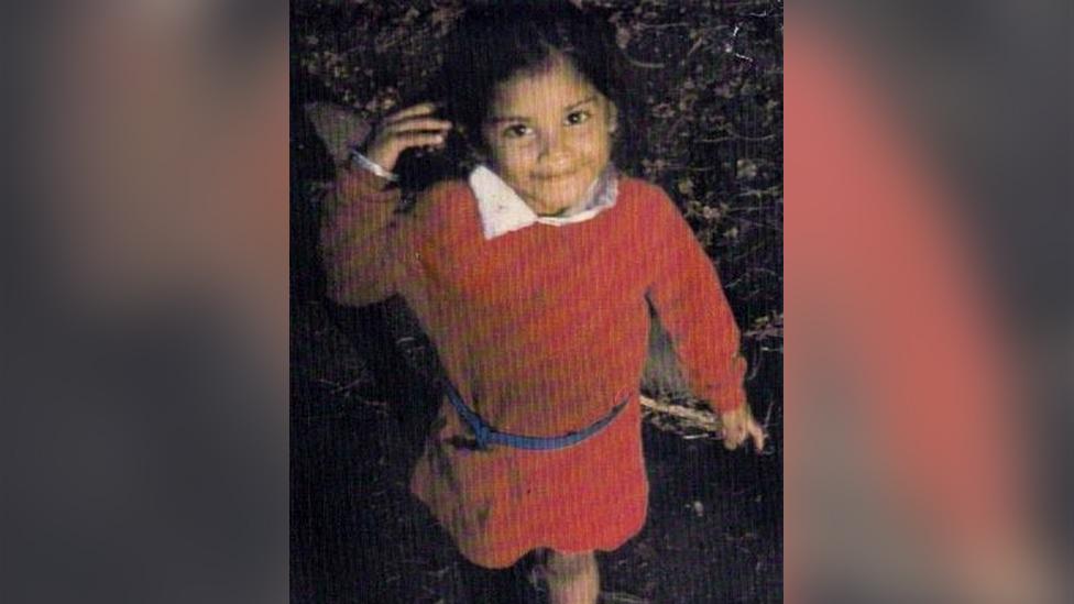 Rubie Marie, en una foto cuando tenía cinco años.