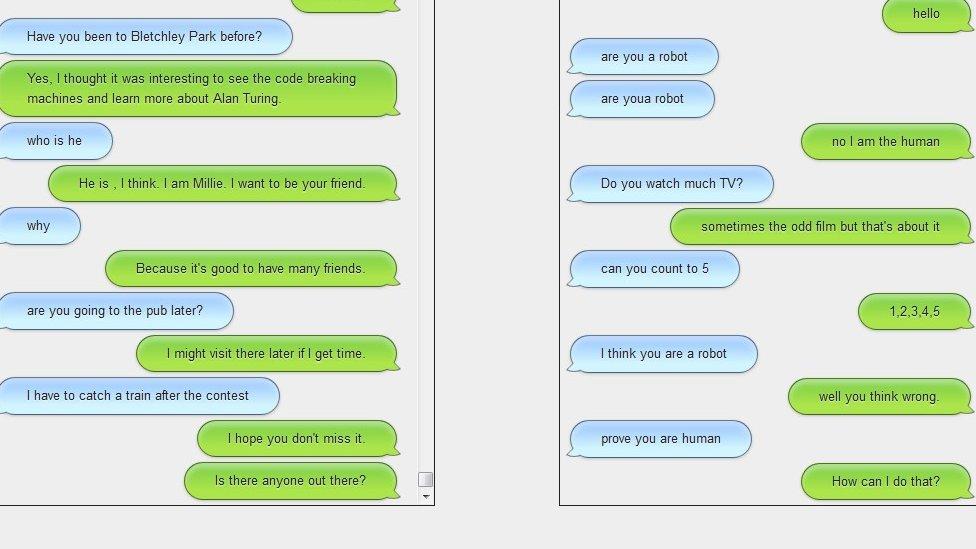 Conversations on screen