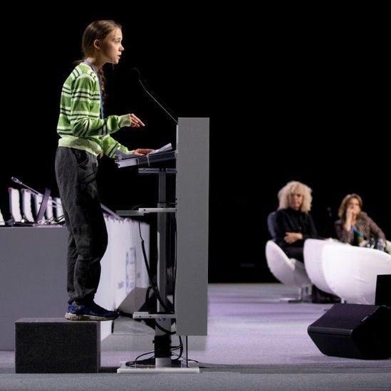 Greta Thunberg en la COP 25.