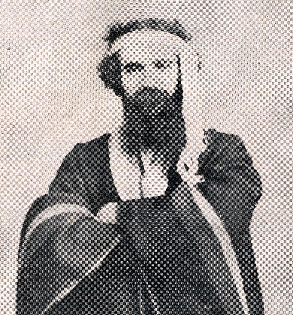 Antoine Tounens vestido con el atuendo mapuche