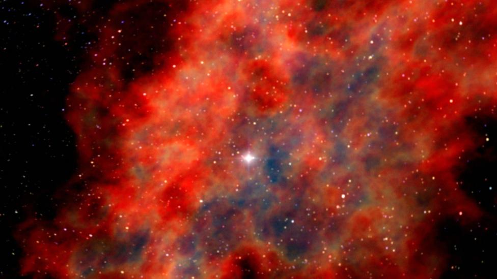 Restos de la explosión de una supernova