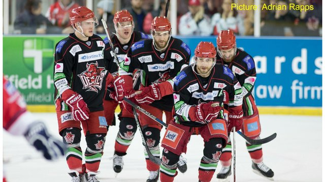 Cardiff Devils v Dundee All Stars in the Challenge Cup Quarter Final 2nd Leg