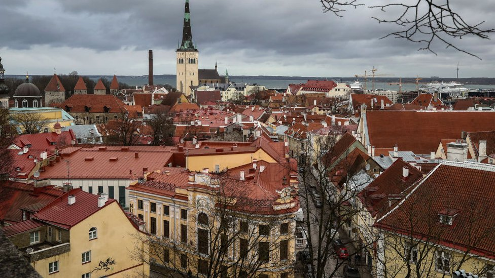 Tallin, capital de Estonia.