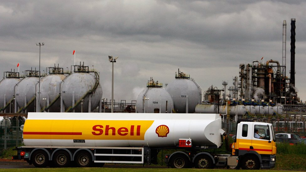 Shell Takes 22bn Hit Over Low Oil Prices Bbc News