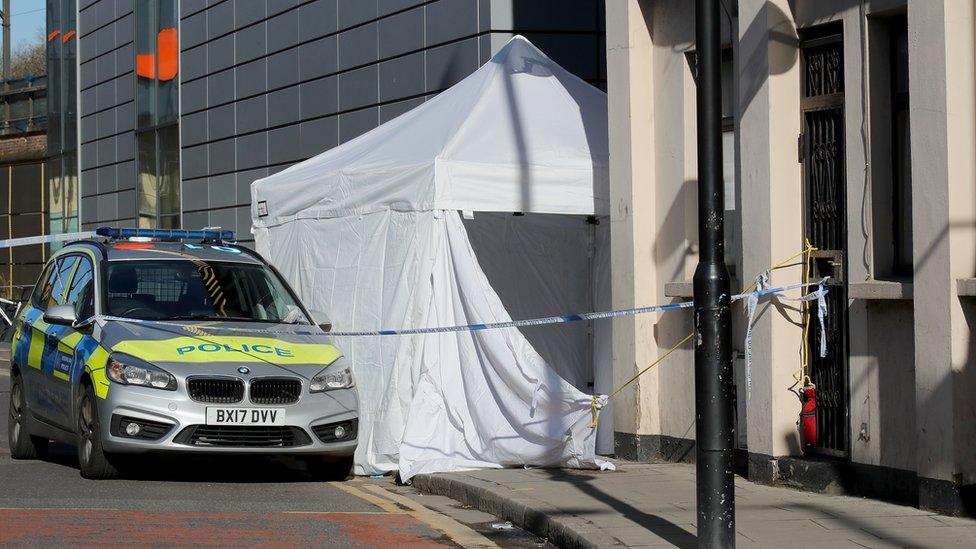 Scene of stabbing in Hackney, east London, in April 2018