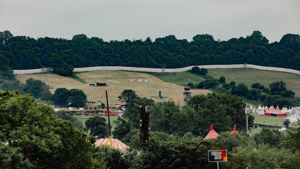 The security being built around Glastonbury