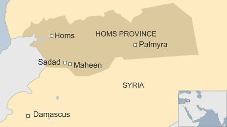Map of Homs province