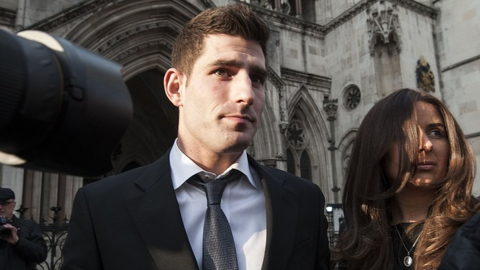 Ched Evans outside the Court of Appeal