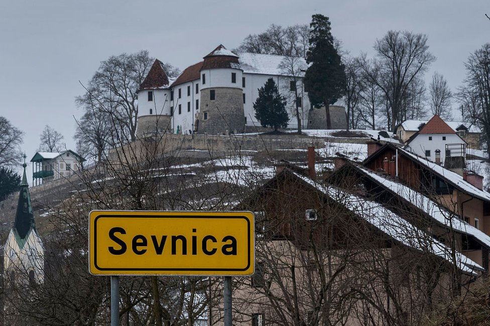 Paisaje en Sevnica.