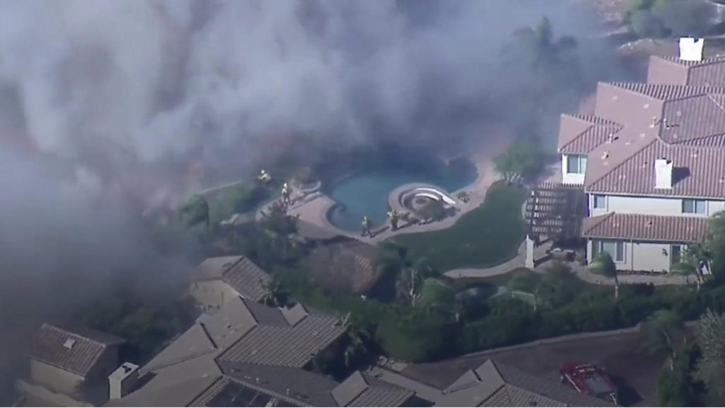 California wildfire: Aerial shots show devastation