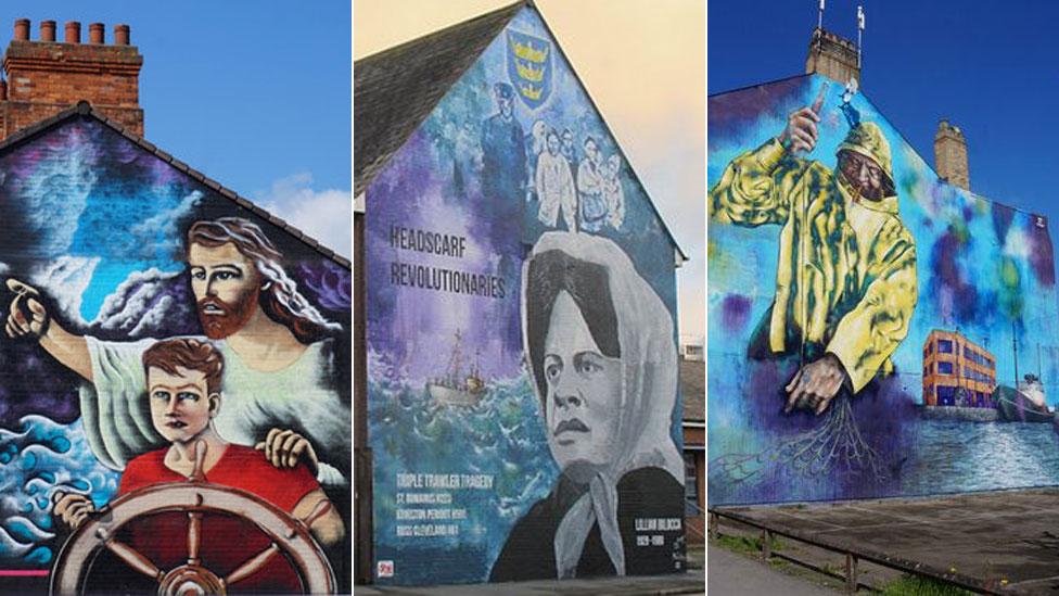 Hulls trawler murals