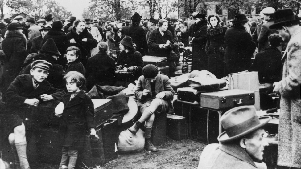 A group of Jews expelled from Germany in November 1938
