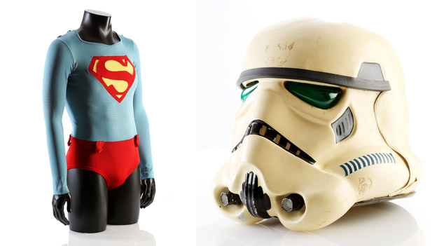 Superman's (Christopher Reeve) Underwater Tunic from Superman; Stormtrooper Helmet from Star Wars: The Empire Strikes Back