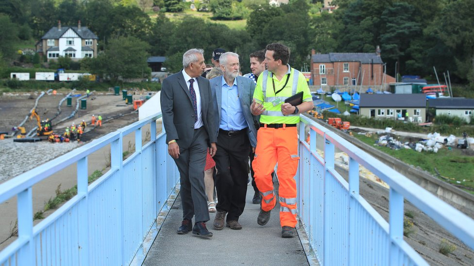 Jeremy Corbyn in Whaley Brudge