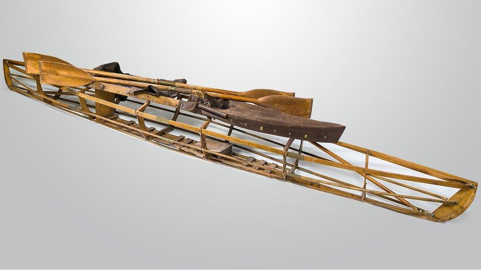 El kayak usado para navegar