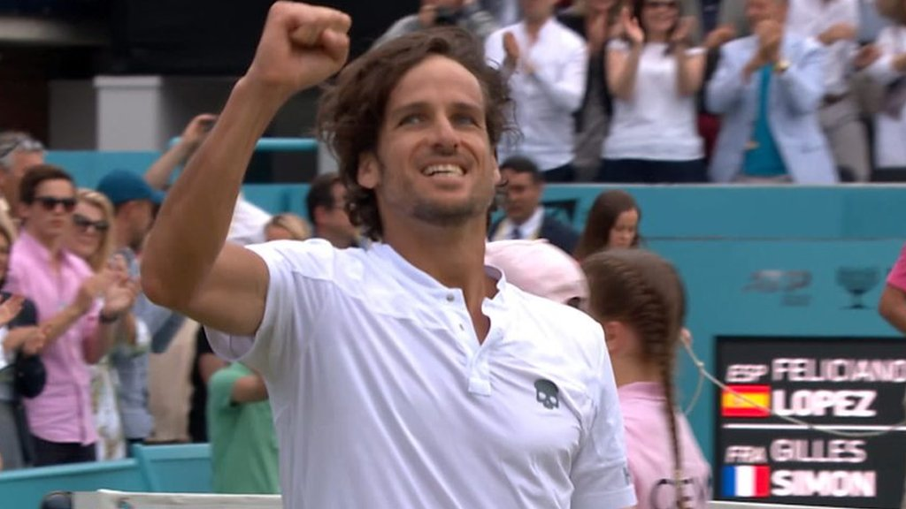 Feliciano Lopez wins second Queen's title - best shots
