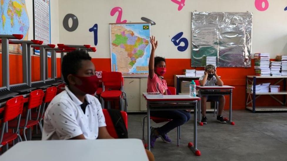 Escola em São Paulo em foto de outubro