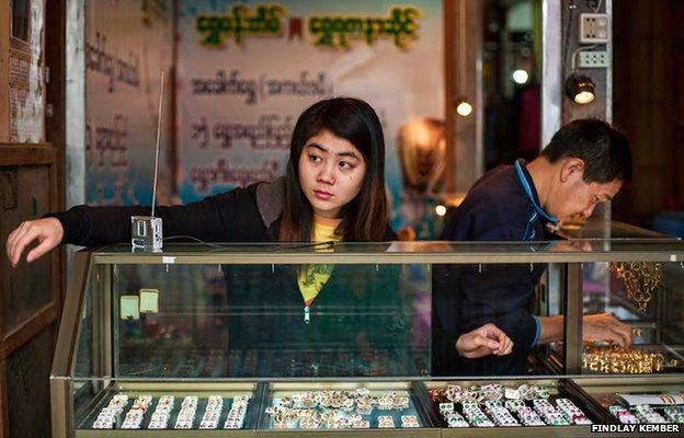 Jewellery market in Bhamo