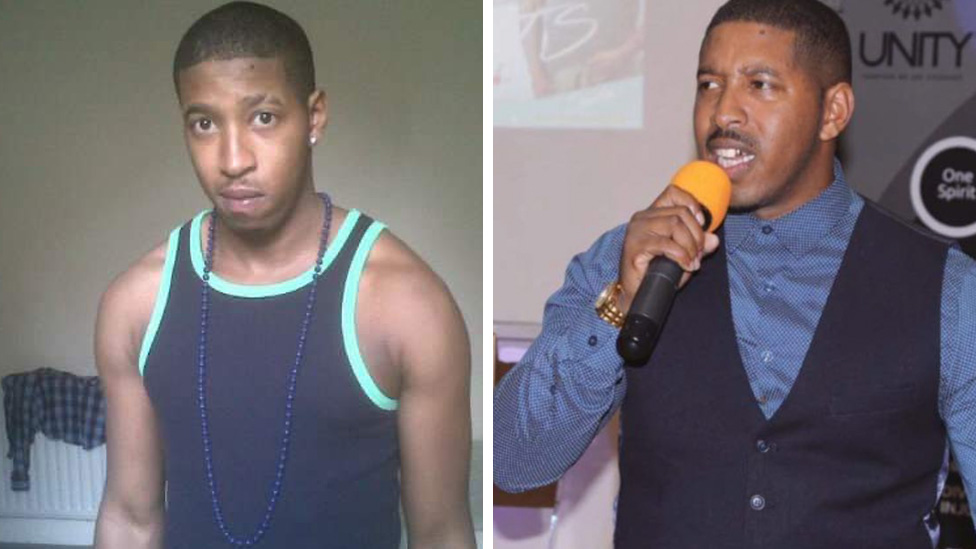 Sephton when he was a teenager and now, at 30