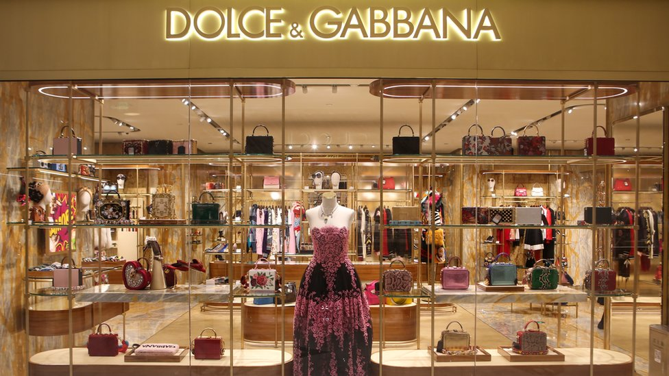 A Dolce & Gabbana store is pictured at Dawanglu on November 22, 2018 in Beijing, China