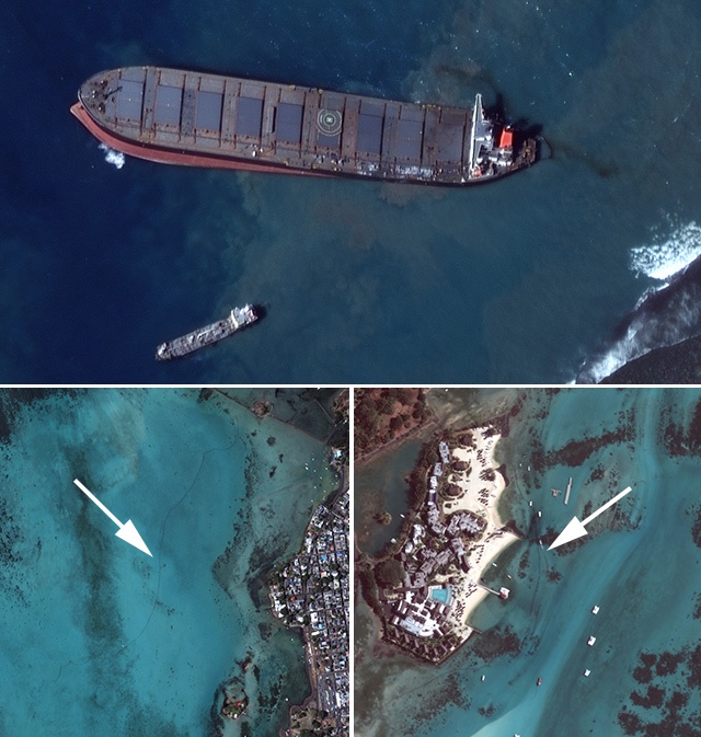 Imágenes satelitales del 12 de agosto.