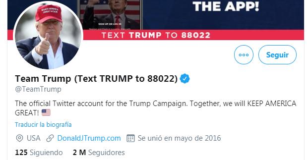 Cuenta de Trump