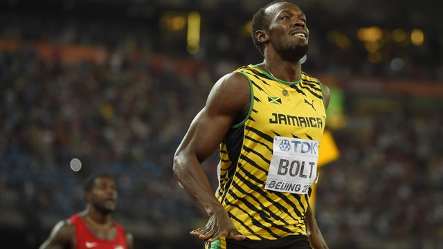 Usain Bolt defends his World Championship 200m title with victory over American Justin Gatlin in Beijing