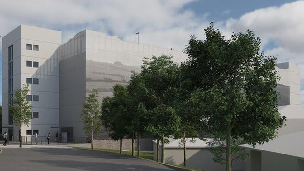 Artist's impression of new hospital multi-storey car park