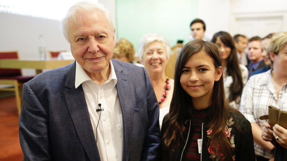 David Attenborough and Mya-Rose Craig