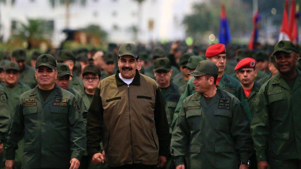 NO USAR. BBC. Tras los sucesos del 30 de abril, Maduro ha realizado varios encuentros con miembros de las Fuerzas Armadas.