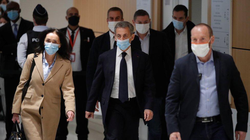 Trial of ex-president Sarkozy a landmark for France - BBC News