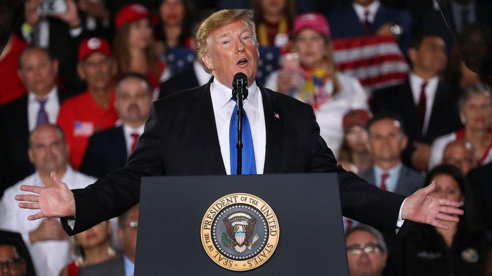 Trump en Florida el pasado lunes