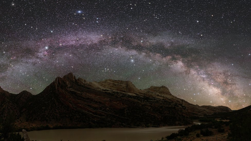 The Milky Way over Dinosaur National Park