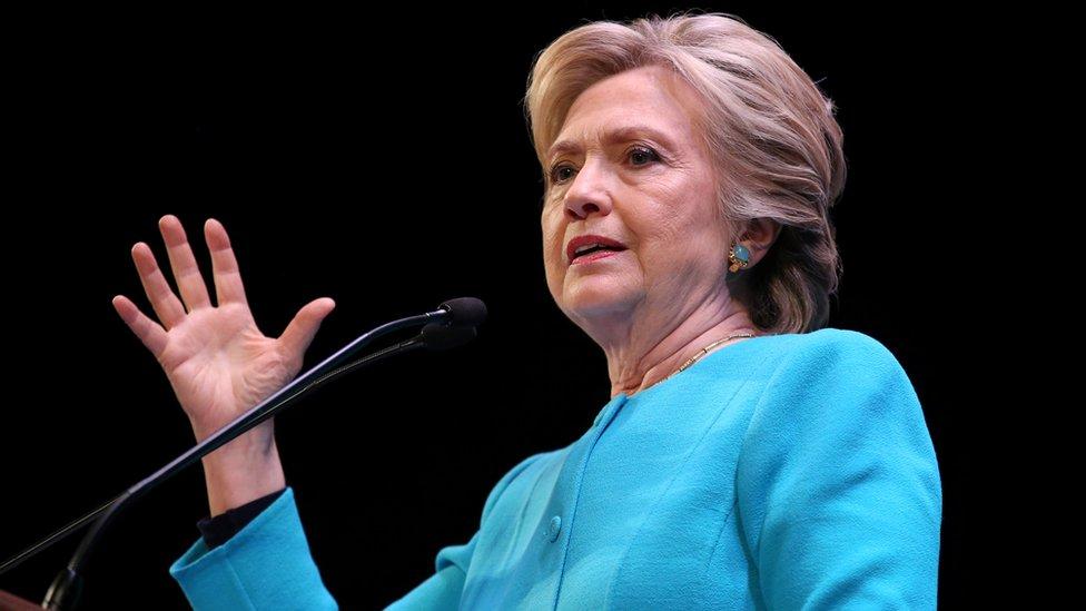 Hillary Clinton speaks at a fundraiser in Seattle, Washington, on 14 October 2016